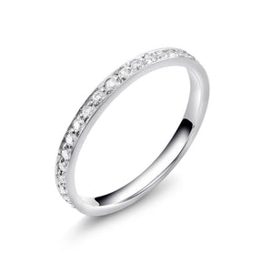 Micro Pave Set Round Diamond Eternity Wedding Ring - OGI-LTD