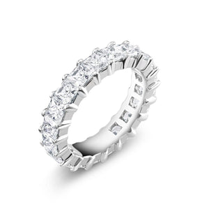 Prong Set Princess Cut Diamond 4.50 Carat Eternity Wedding Ring - OGI-LTD