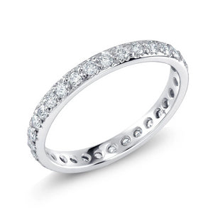Platinum Micro Pave Diamond Eternity Band - OGI-LTD