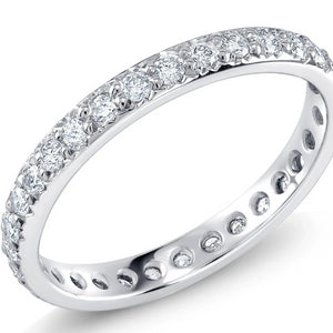 Platinum Micro Pave Diamond Eternity Band Weighting 0.60 Carat - OGI-LTD