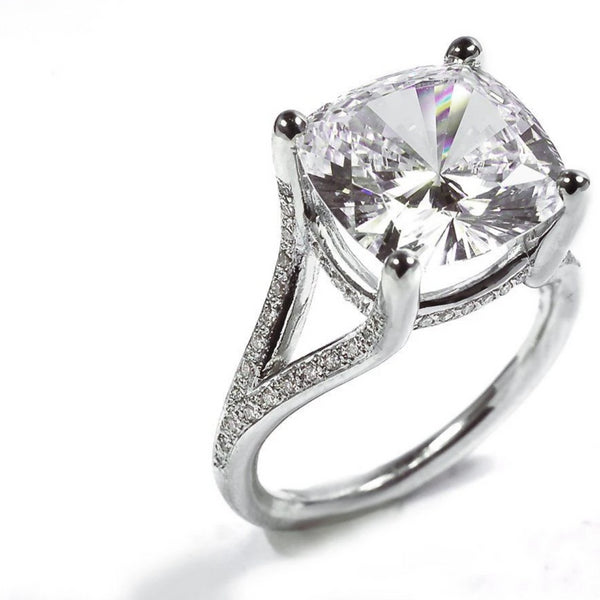 Round Shape Diamond Engagement Ring 1.50 Carat Center - OGI-LTD