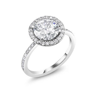 18 Karat Gold Two Carat Round Diamond Engagement Ring - OGI-LTD