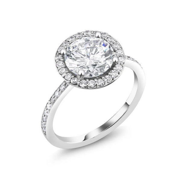 Diamond Engagement Ring 2 carat Round Center - OGI-LTD