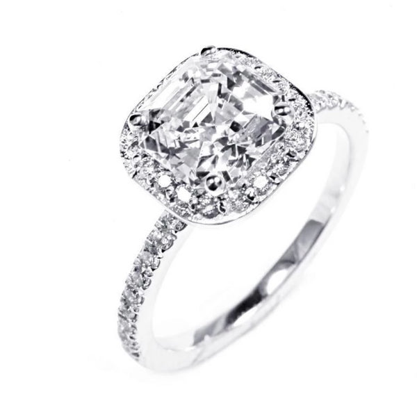 18 Karat Gold One Carat Cushion Diamond Engagement Ring - OGI-LTD