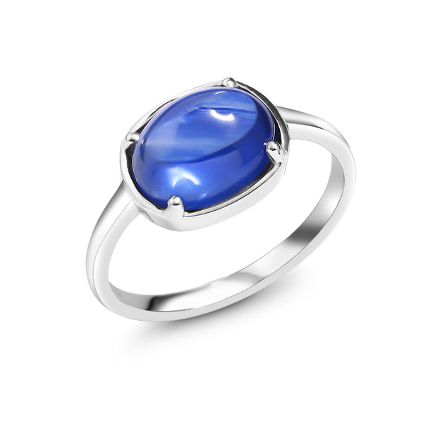 18 Karat Gold Ceylon Cabochon Sapphire Cocktail Ring - OGI-LTD