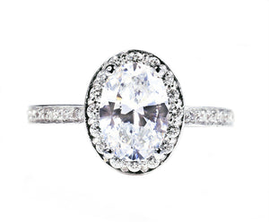 18 Karat Gold Oval Shape Diamond Engagement Ring - OGI-LTD
