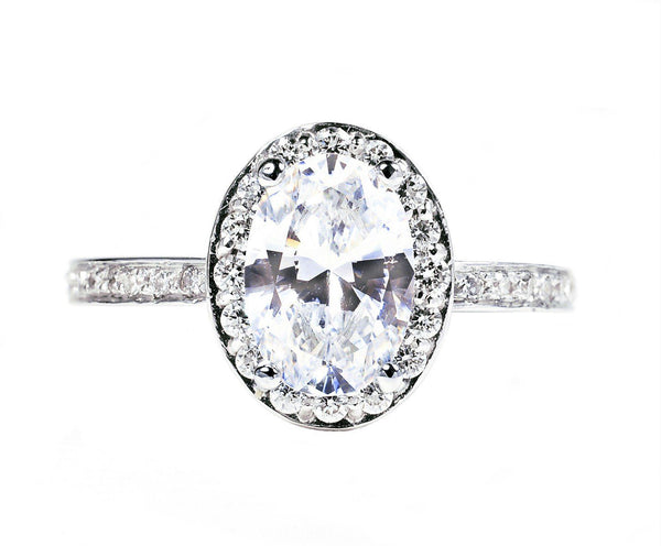 Oval Shape Diamond Engagement Ring 1.50 Carat Center - OGI-LTD