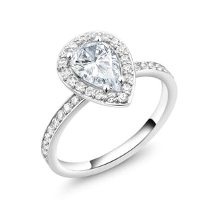 Pear Shape 1.50 Carat Diamond Engagement Ring - OGI-LTD