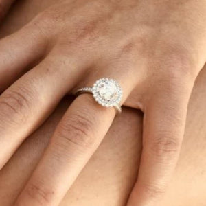 Platinum Diamond Engagement Ring for 1.5 Carat Center - OGI-LTD