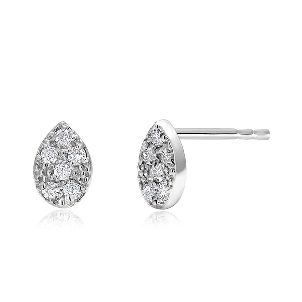 14 Karat Gold Pear Shape Diamond Pair or Single Stud Earrings - OGI-LTD