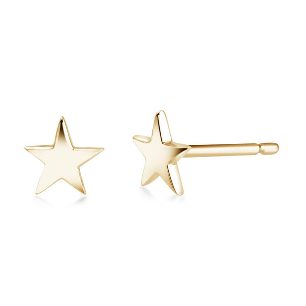 14 Karat Gold Mini Star Stud Earrings - OGI-LTD