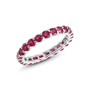 14 Karat Gold Ruby Prong Set Eternity Band - OGI-LTD