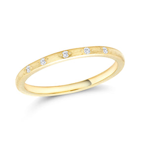 14 Karat Gold Five Diamond Wedding Band - OGI-LTD