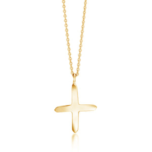 14 Karat Yellow Gold Cross Necklace Pendant - OGI-LTD