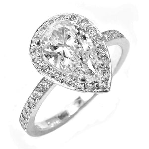 18 Karat Gold Pear Shape Diamond  Engagement Ring - OGI-LTD
