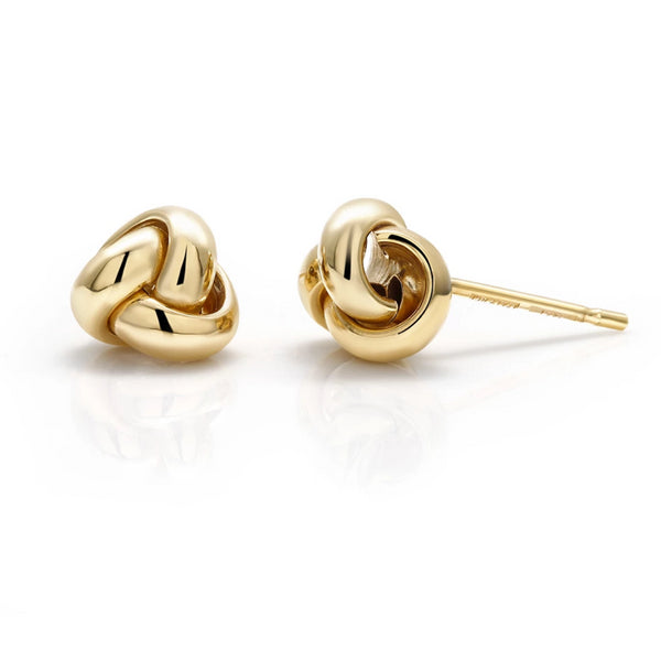 14 Karat Gold Love Knot Stud Earrings - OGI-LTD