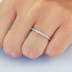18 Karat Gold Micro Pave Diamond Eternity Band - OGI-LTD