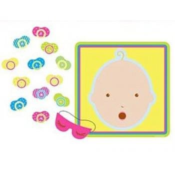 Beistle 66675 Pin The Pacifier Baby Shower Game, 17