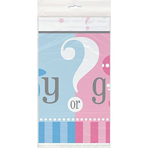 "Gender Reveal Plastic Tablecloth, 84"" x 54"""