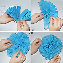 Resinta Gender Reveal Banner Balloons and Tissue Paper Pom Poms Flower Set Baby Shower or Party Decorations for Pregnancy Announcement