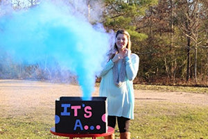 Baby Gender Reveal Color Smoke Stick Fountains Blue and Pink (2 Blue and 2 Pink)