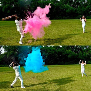 2 Gender Reveal Baseballs includes Pink and Blue Powder, Sex Reveal Party - Team Pink (Girl) and Team Blue (Boy) - FamilyFun Authentic Products