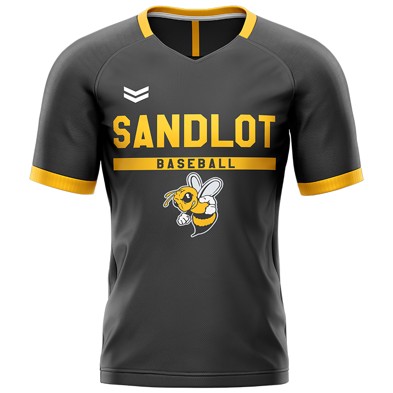 Sandlot Bees Custom Sublimated Home Short Sleeve Workout Shirt