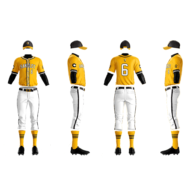 Sandlot Bees Custom Sublimated Away Baseball Pants