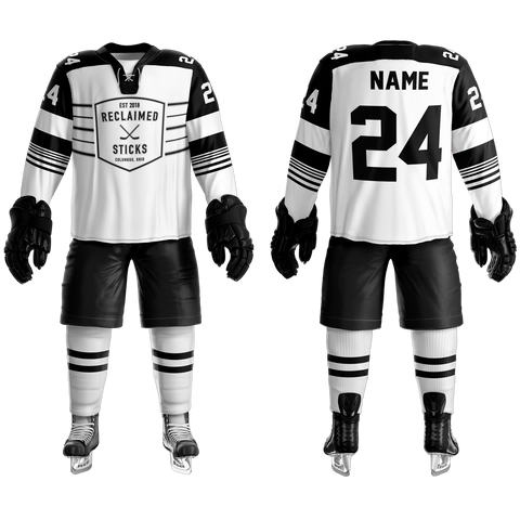Reclaimed Sticks Custom Sublimated Away Hockey Jersey