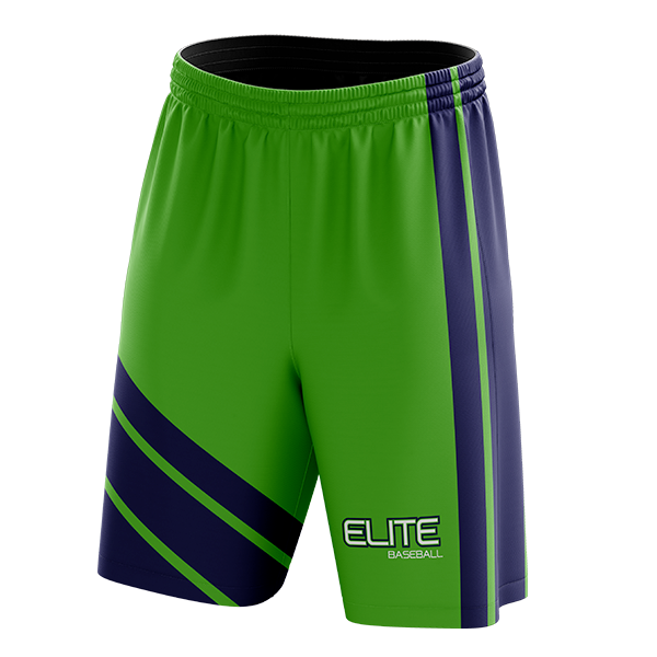 Elite Baseball Custom Sublimated Away Workout Shorts