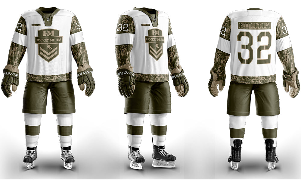 Hockey Militia Custom Sublimated Away Hockey Jersey