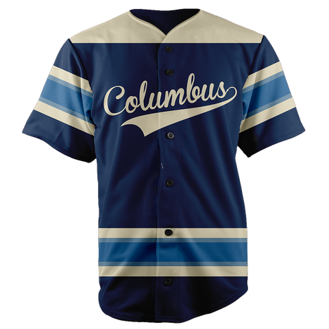 Image of COLUMBUS BASEBALL JERSEY - CUSTOM