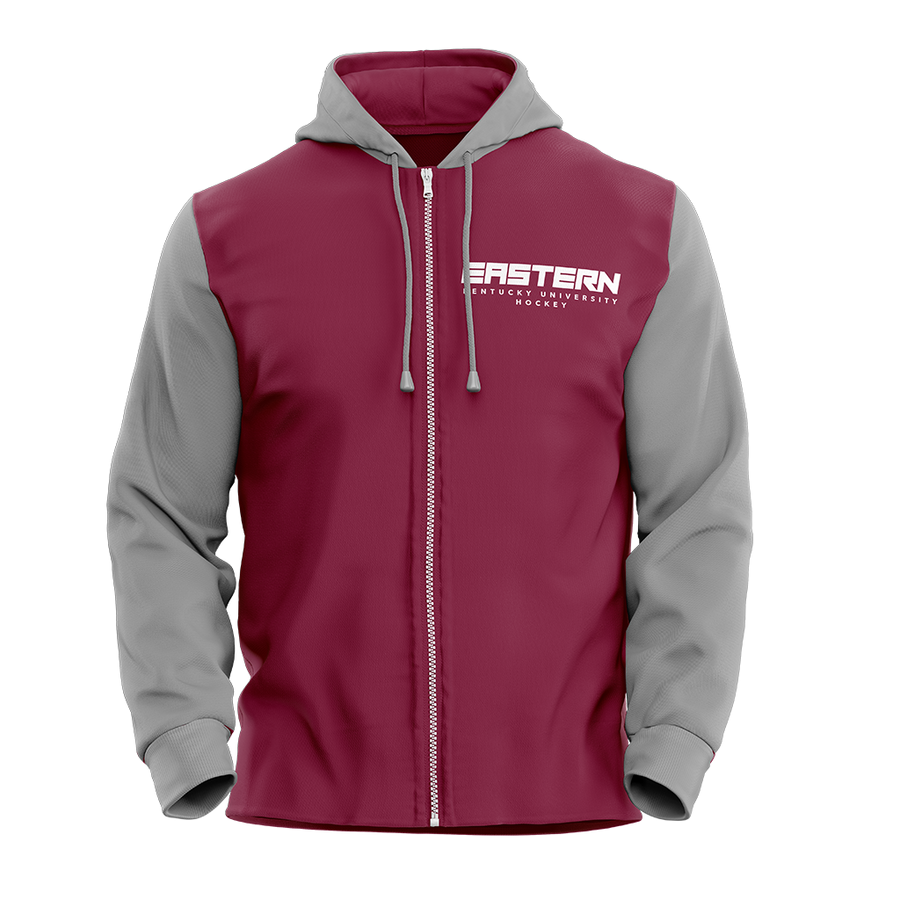 Eastern Kentucky University Custom Sublimated Full-Zip Hoodie