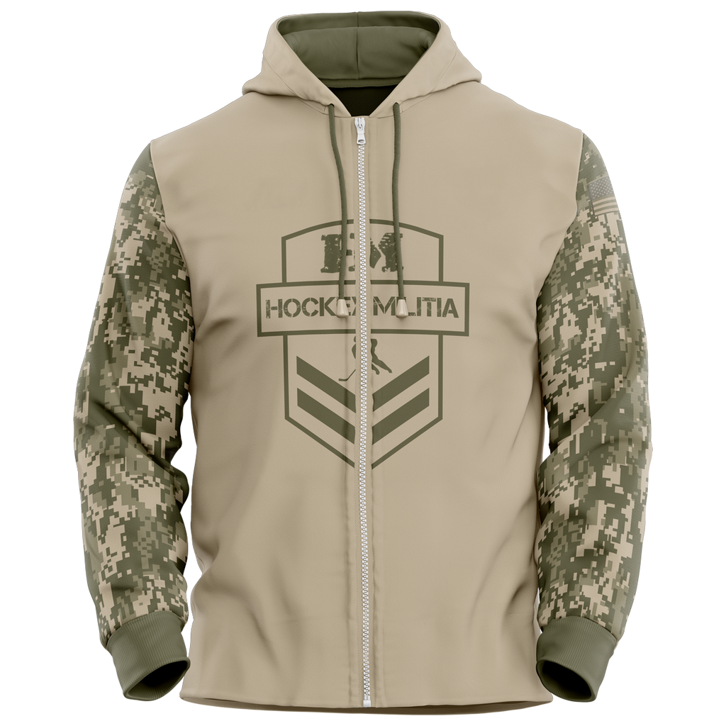 Hockey Militia Custom Sublimated Full-Zip Hoodie