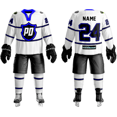 Fort Collins Police Department Custom Sublimated Home Hockey Jersey