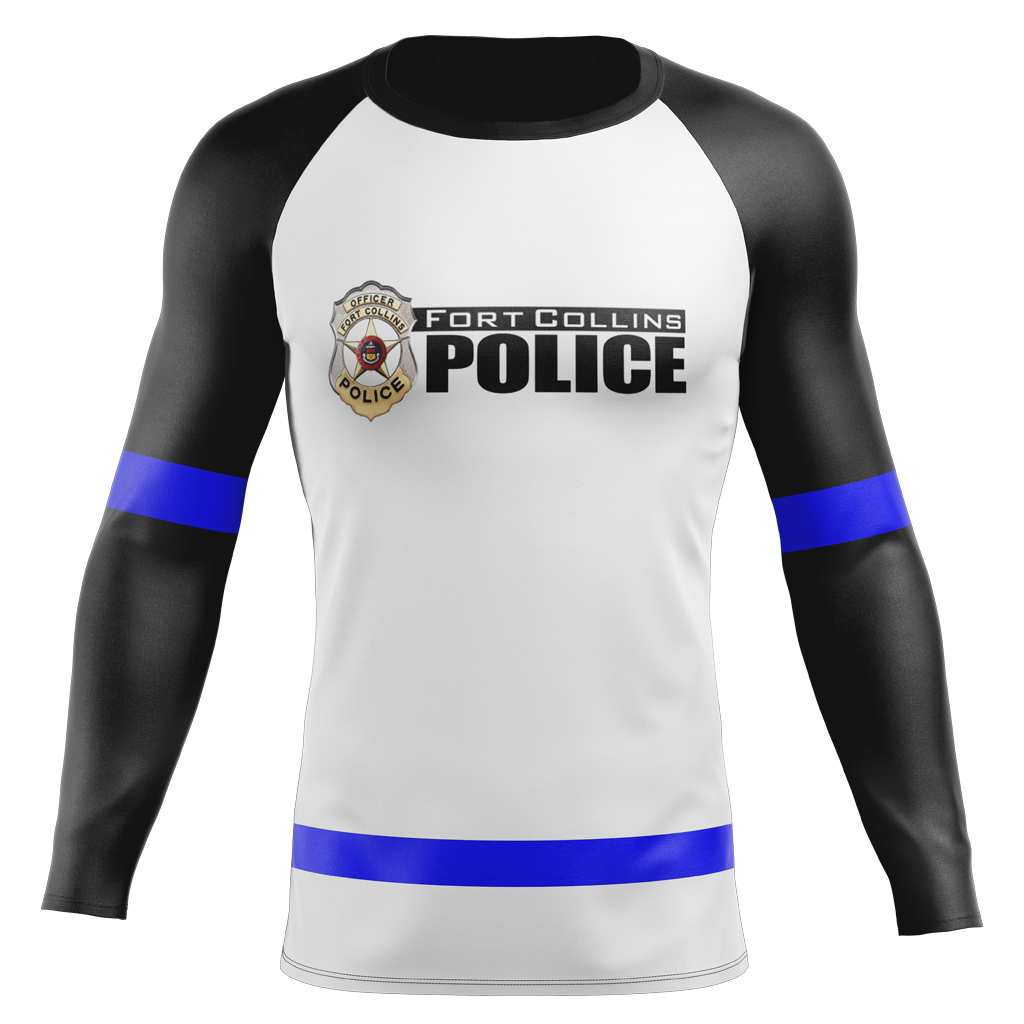 Fort Collins Police Department Custom Sublimated Away Long Sleeve Workout Shirt
