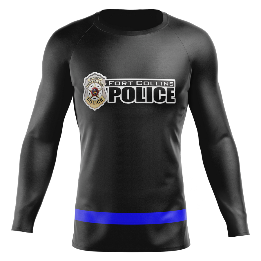 Fort Collins Police Department Custom Sublimated Home Long Sleeve Workout Shirt