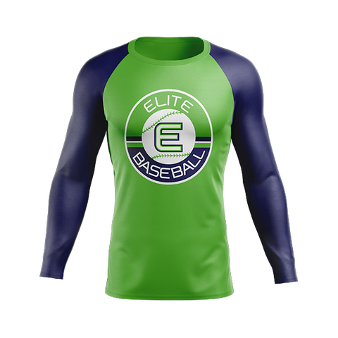 Copy of Elite Baseball Custom Sublimated Away Long Sleeve Workout Shirt Option #2