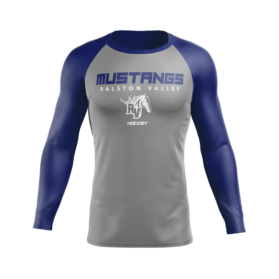 Team Ralston Valley Custom Sublimated Away Long Sleeve Workout Shirt