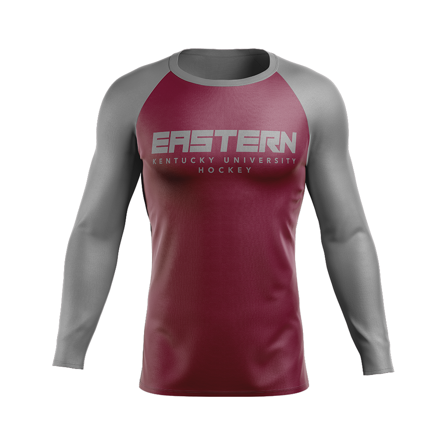 Eastern Kentucky University Custom Sublimated Home Long Sleeve Workout Shirt