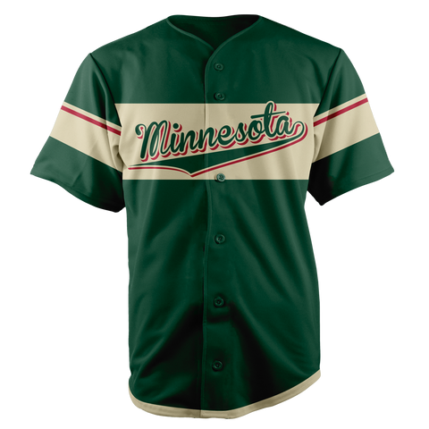Image of MINNESOTA BASEBALL JERSEY - CUSTOM