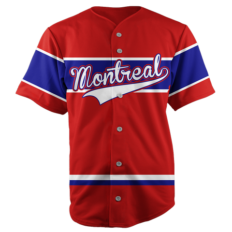 Image of MONTREAL BASEBALL JERSEY - CUSTOM