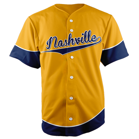 Image of NASHVILLE BASEBALL JERSEY - CUSTOM