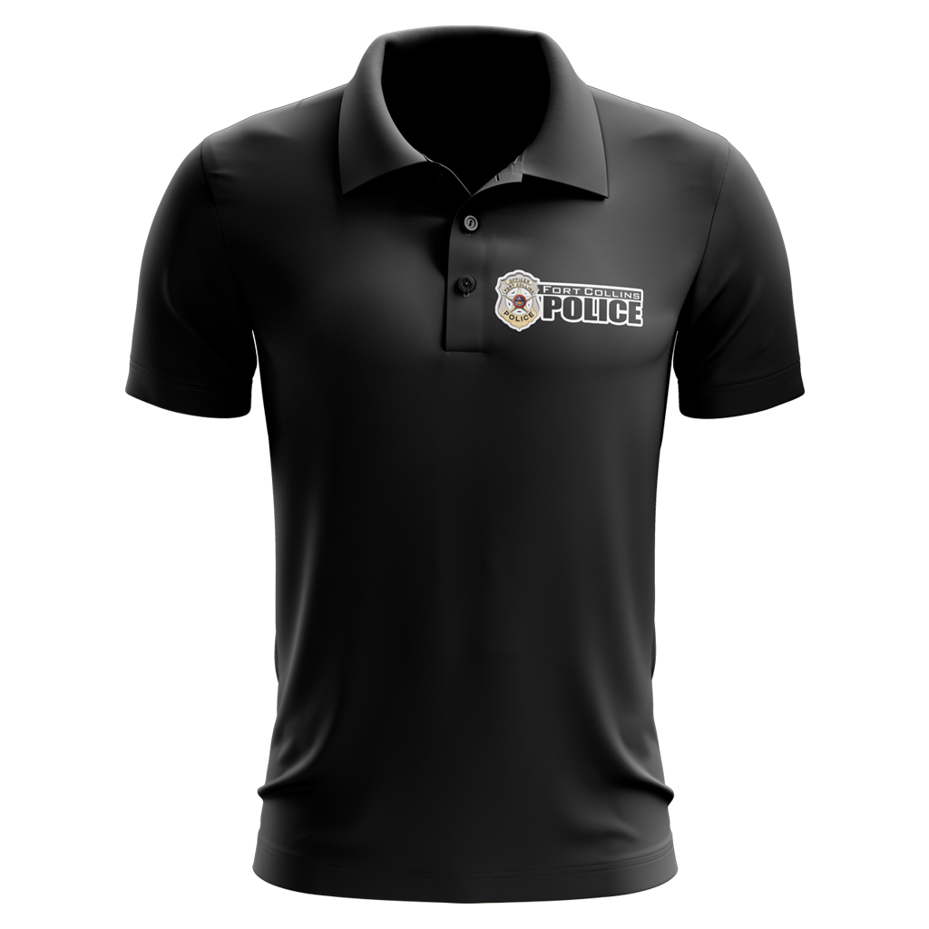 Fort Collins Police Department Custom Sublimated Three-Button Polo