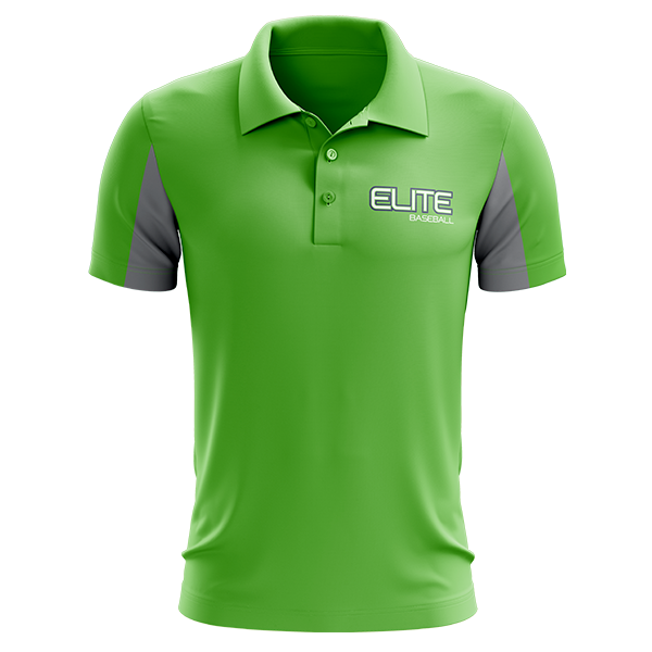 Elite Baseball Custom Sublimated Three-Button Polo