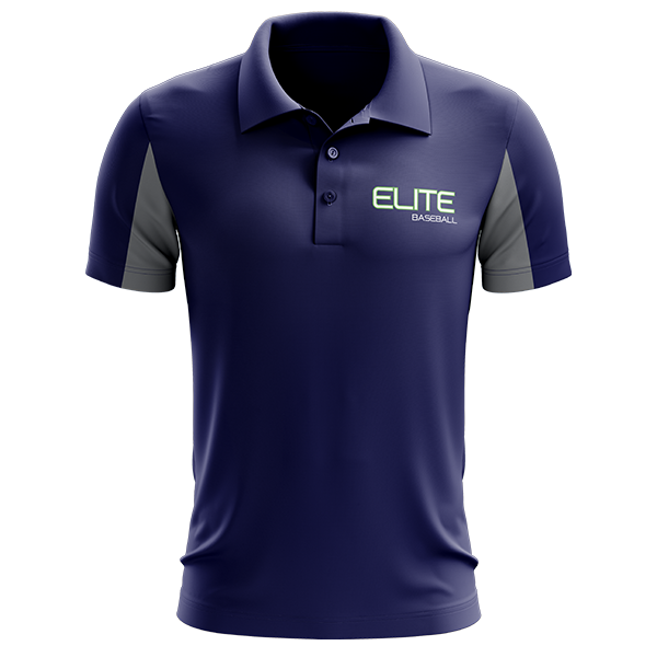 Elite Baseball Custom Sublimated Three-Button Polo Option #2