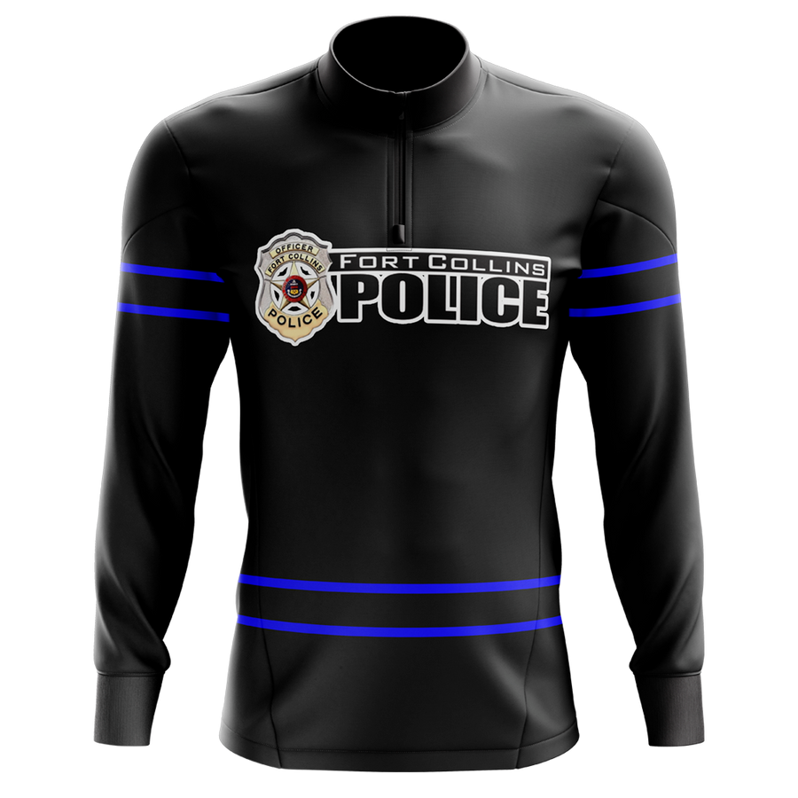 Fort Collins Police Department Custom Sublimated 1/4 Zip Jacket