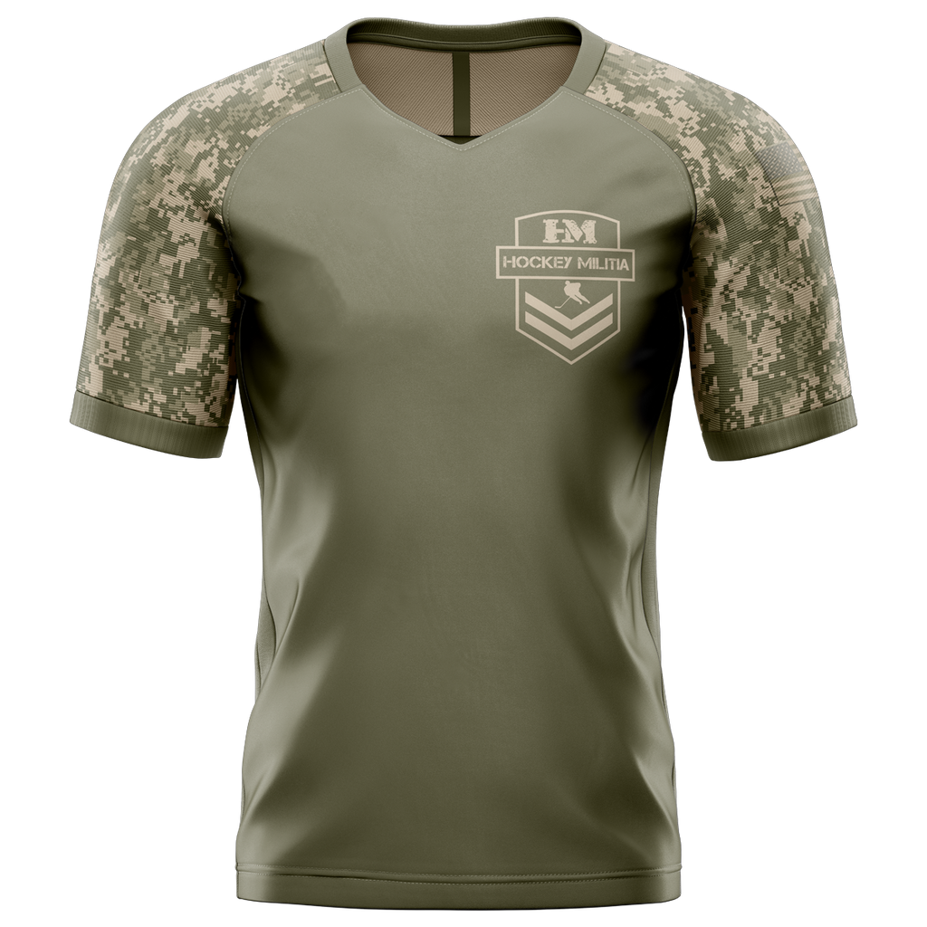 Hockey Militia Custom Sublimated Away Short Sleeve Workout Shirt