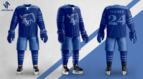 Team Ralston Valley Custom Sublimated Home Hockey Jersey