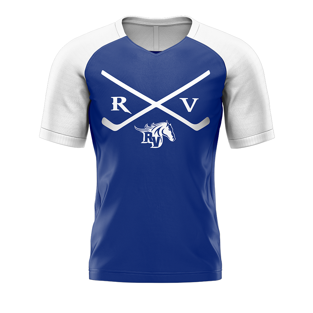 Team Ralston Valley Custom Sublimated Away Short Sleeve Workout Shirt